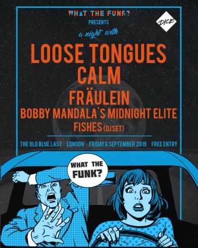 WTF? Presents Loose Tongues, CALM, Fraulein, Bobby Mandala's Midnight Elite, Fishes (DJ Set)